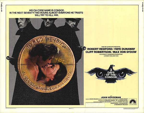 Days Of The Condor Movie Poster